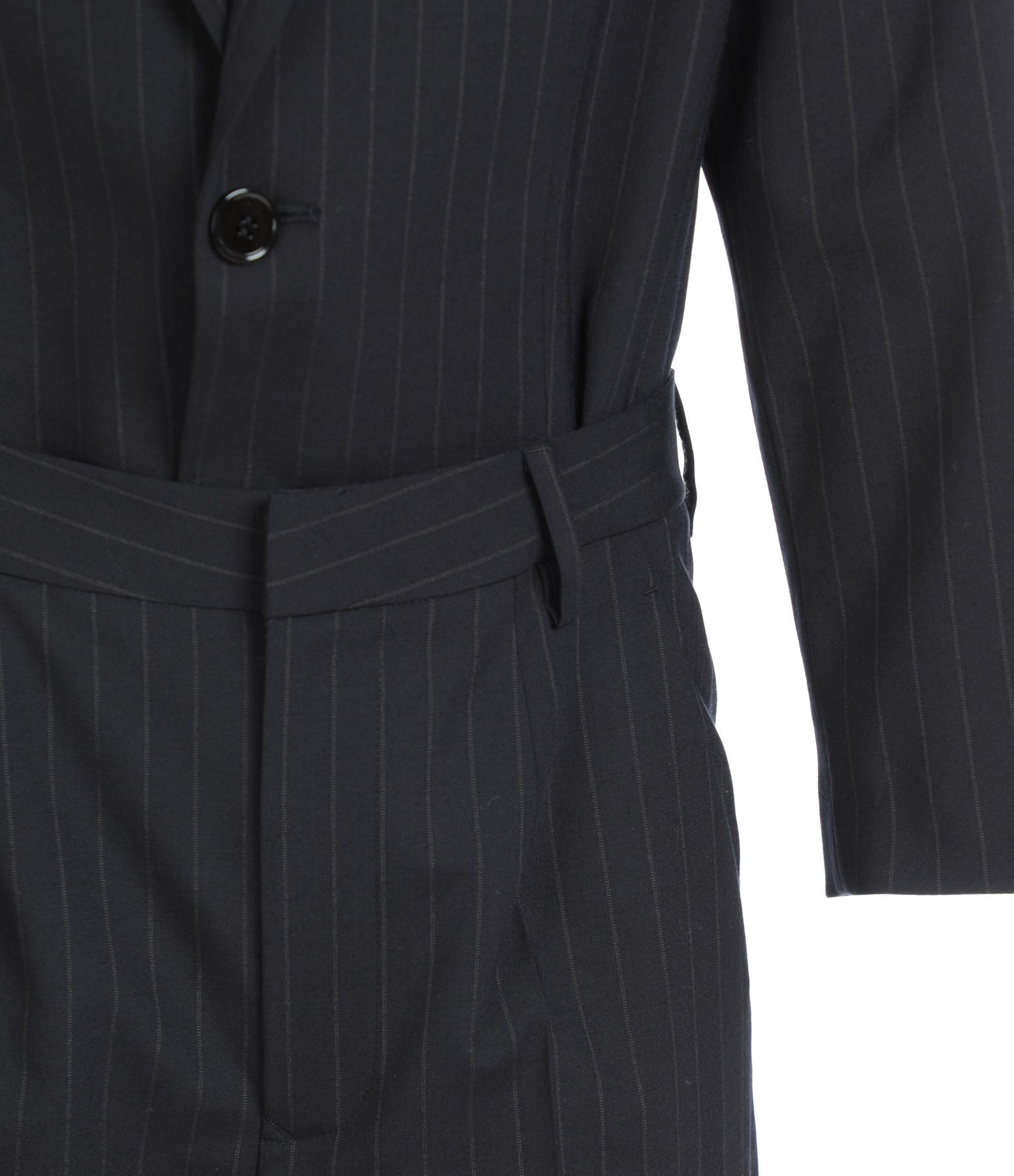 MM6 MAISON MARGIELA - Combinaison Pantalon Laine Rayures Bleu