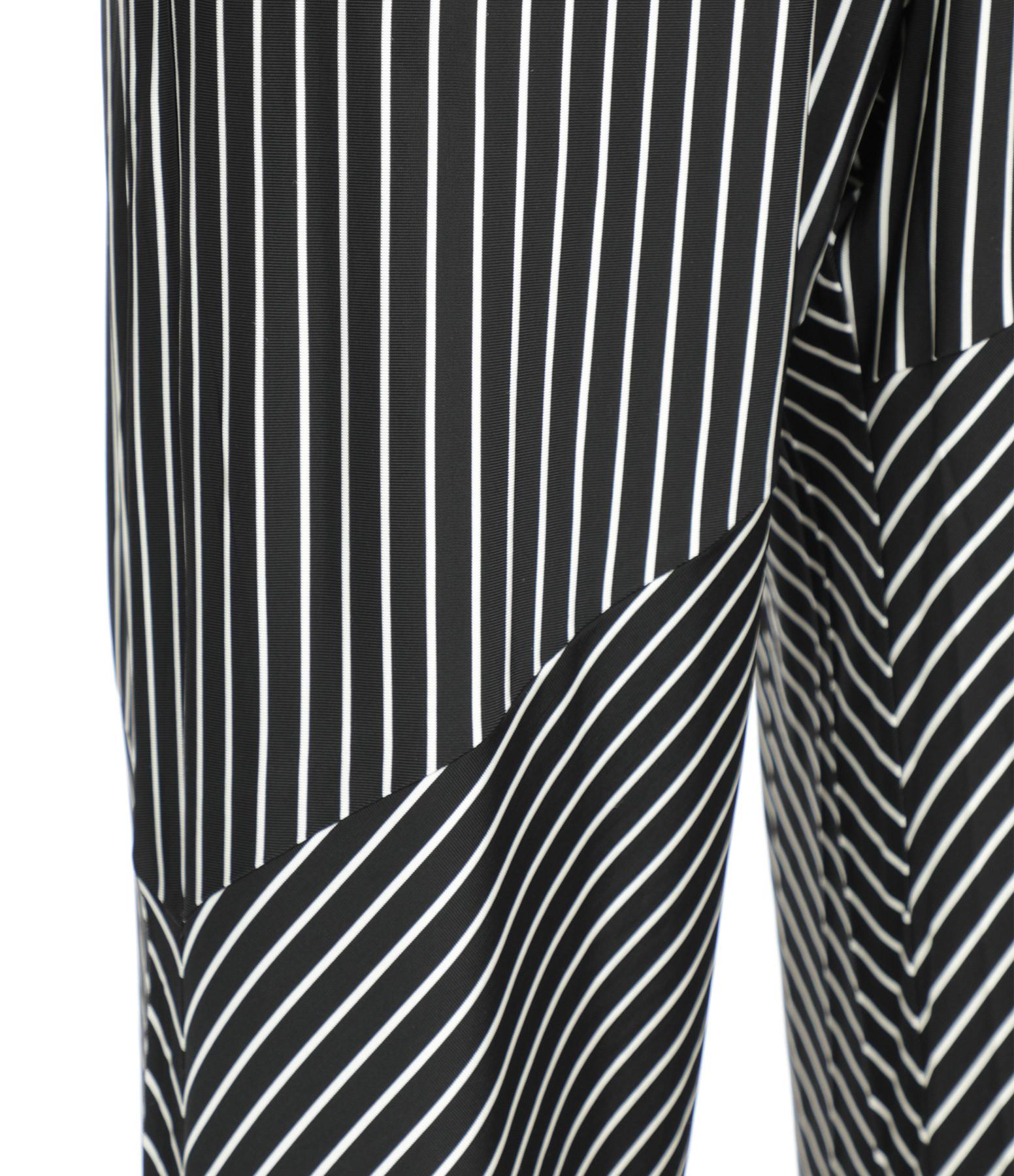 MM6 MAISON MARGIELA - Pantalon Jersey Rayures Noir Blanc