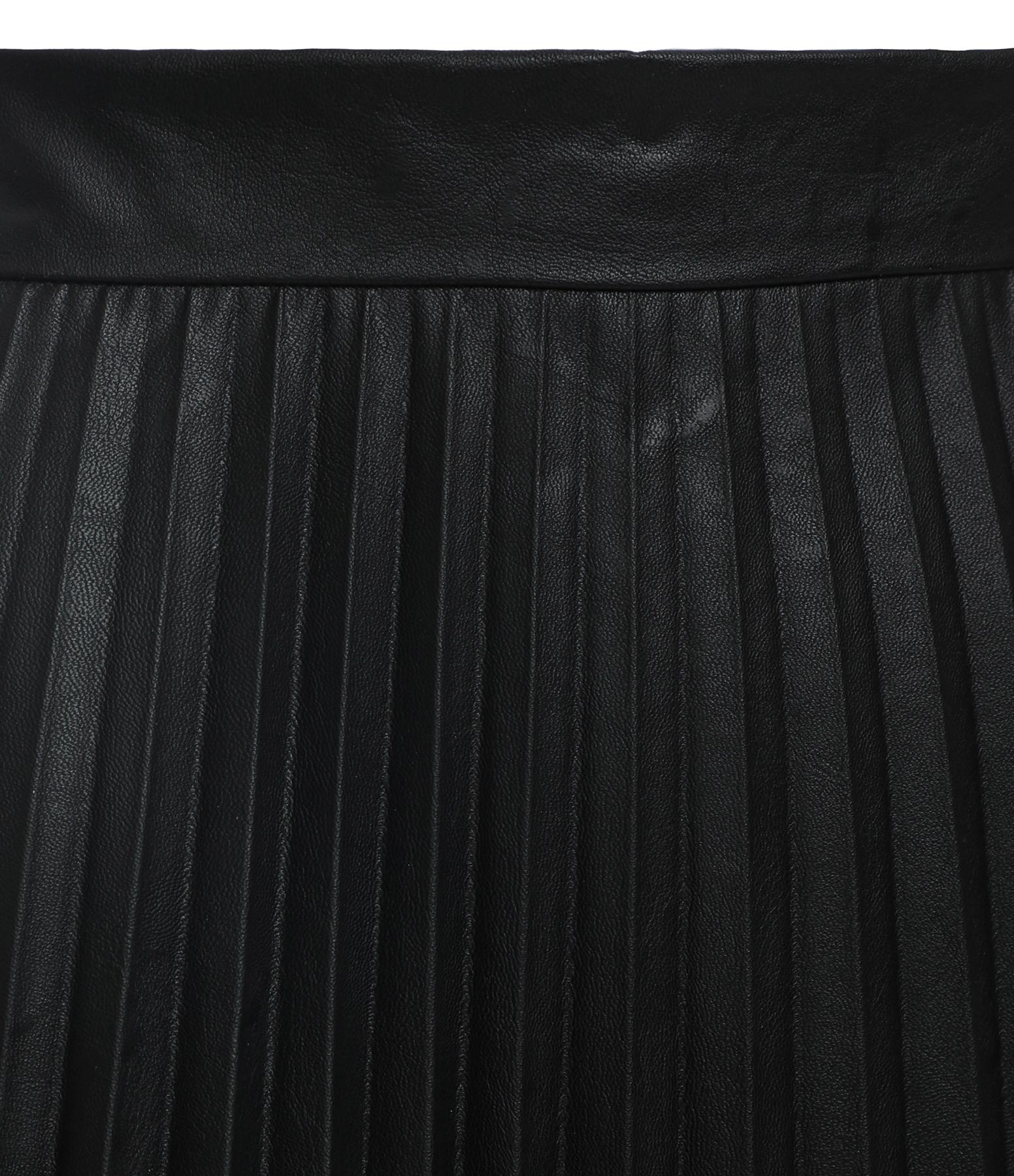 MM6 MAISON MARGIELA - Jupe Plissée Ciré Noir