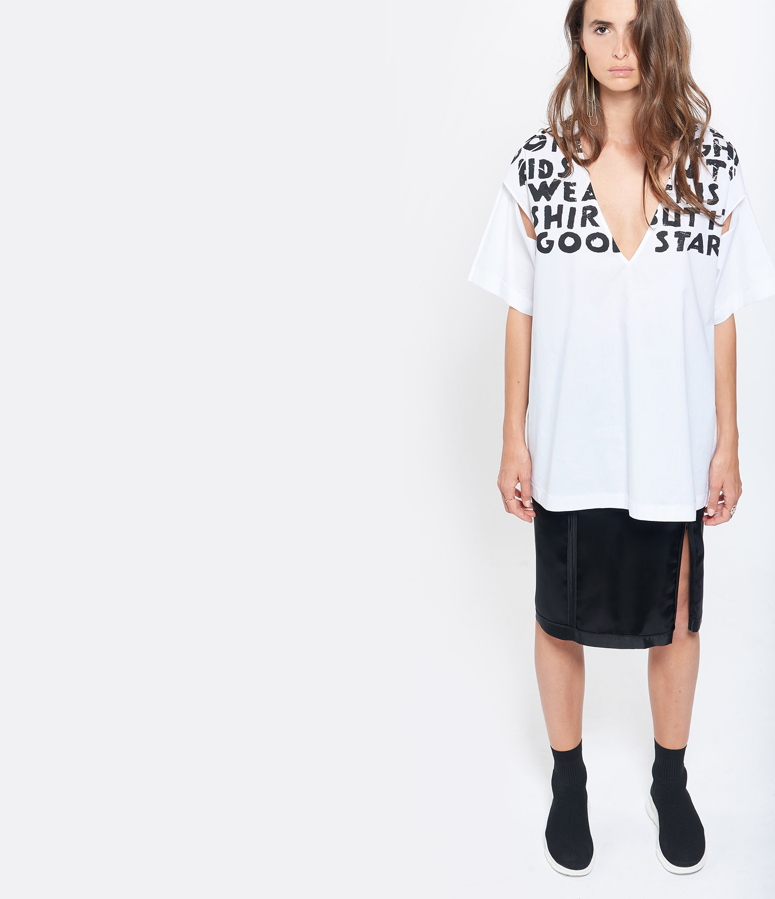 MM6 MAISON MARGIELA - Top Loose Blanc Collection Studio
