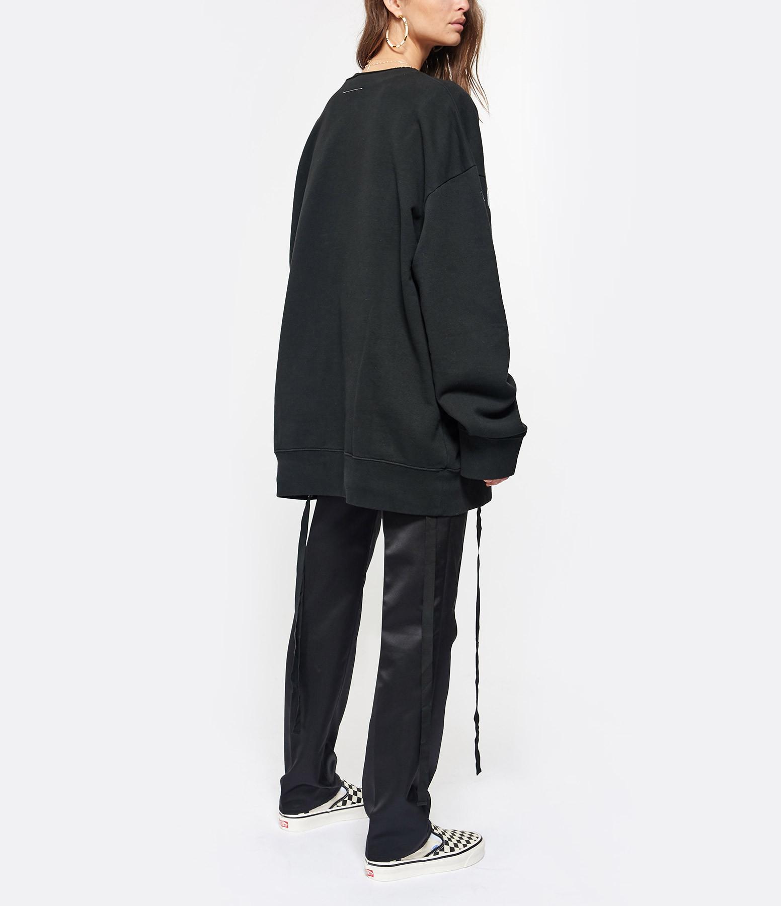 MM6 MAISON MARGIELA - Sweatshirt Imprimé Noir Collection Studio