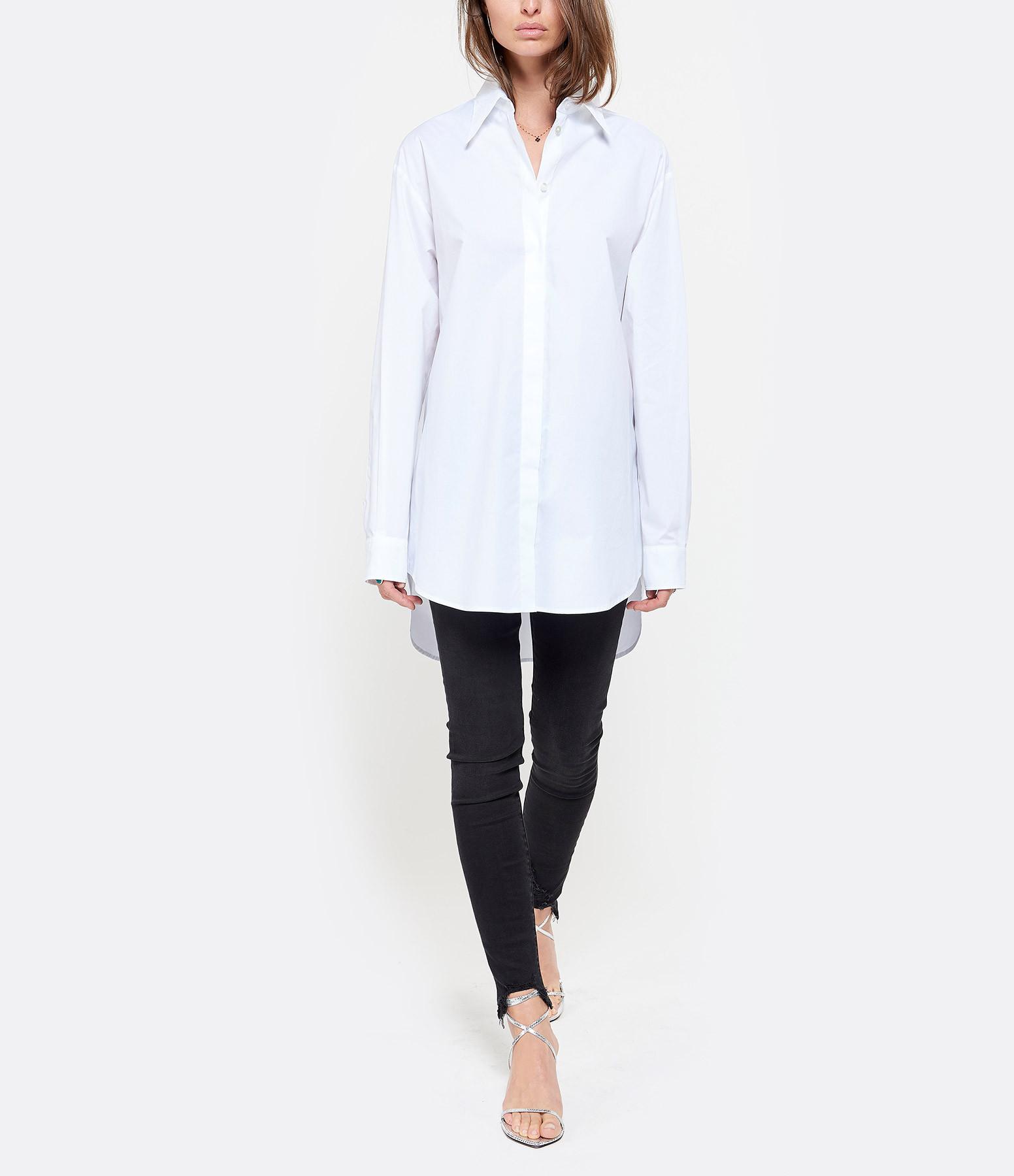 MM6 MAISON MARGIELA - Chemise Imprimé Dos Coton Blanc, Collection Studio