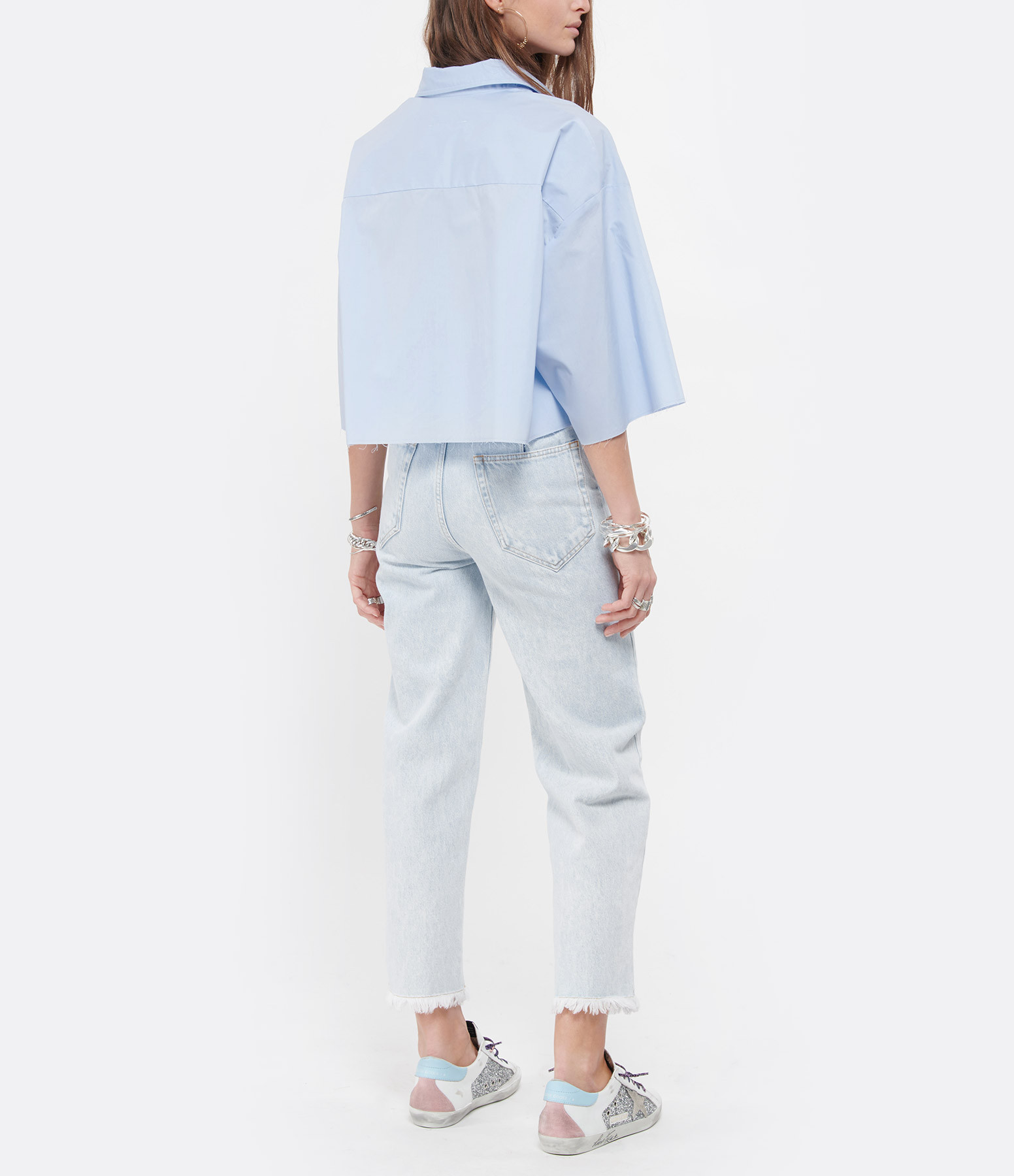 MM6 MAISON MARGIELA - Chemise Coton Nude Bleu Ciel, Collection Studio