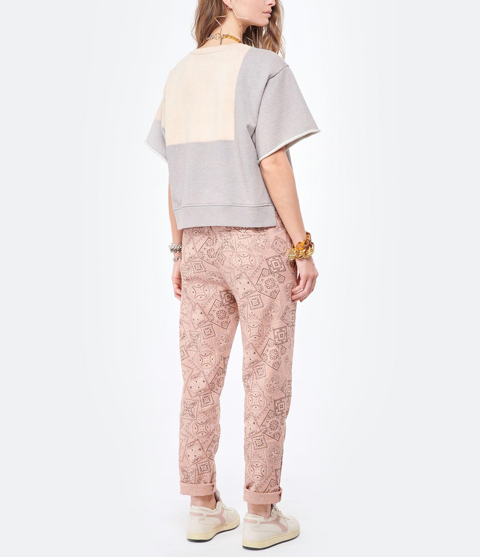 MM6 MAISON MARGIELA - Sweatshirt Coton Gris, Collection Studio