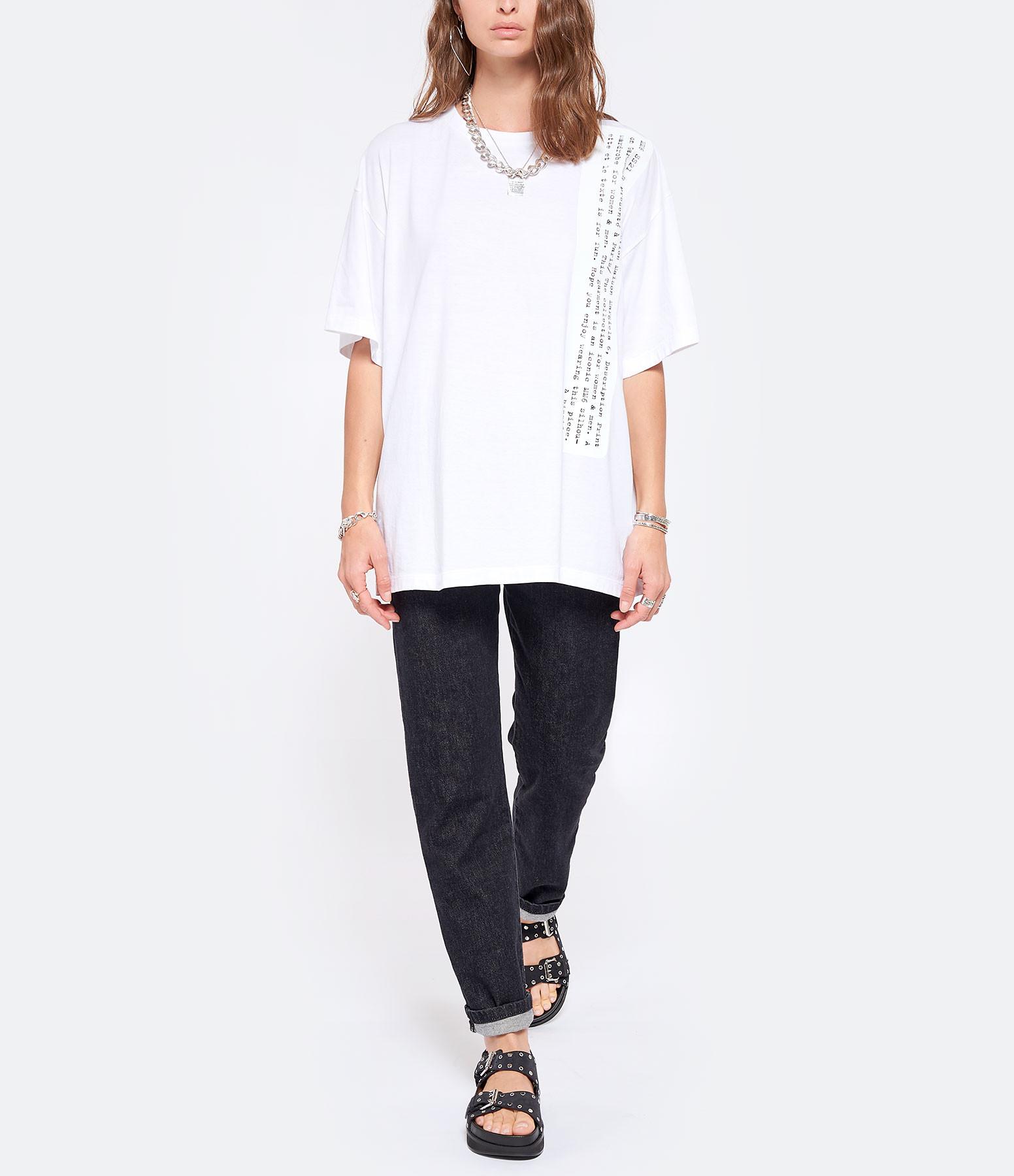 MM6 MAISON MARGIELA - Tee-shirt Coton Blanc, Collection Studio