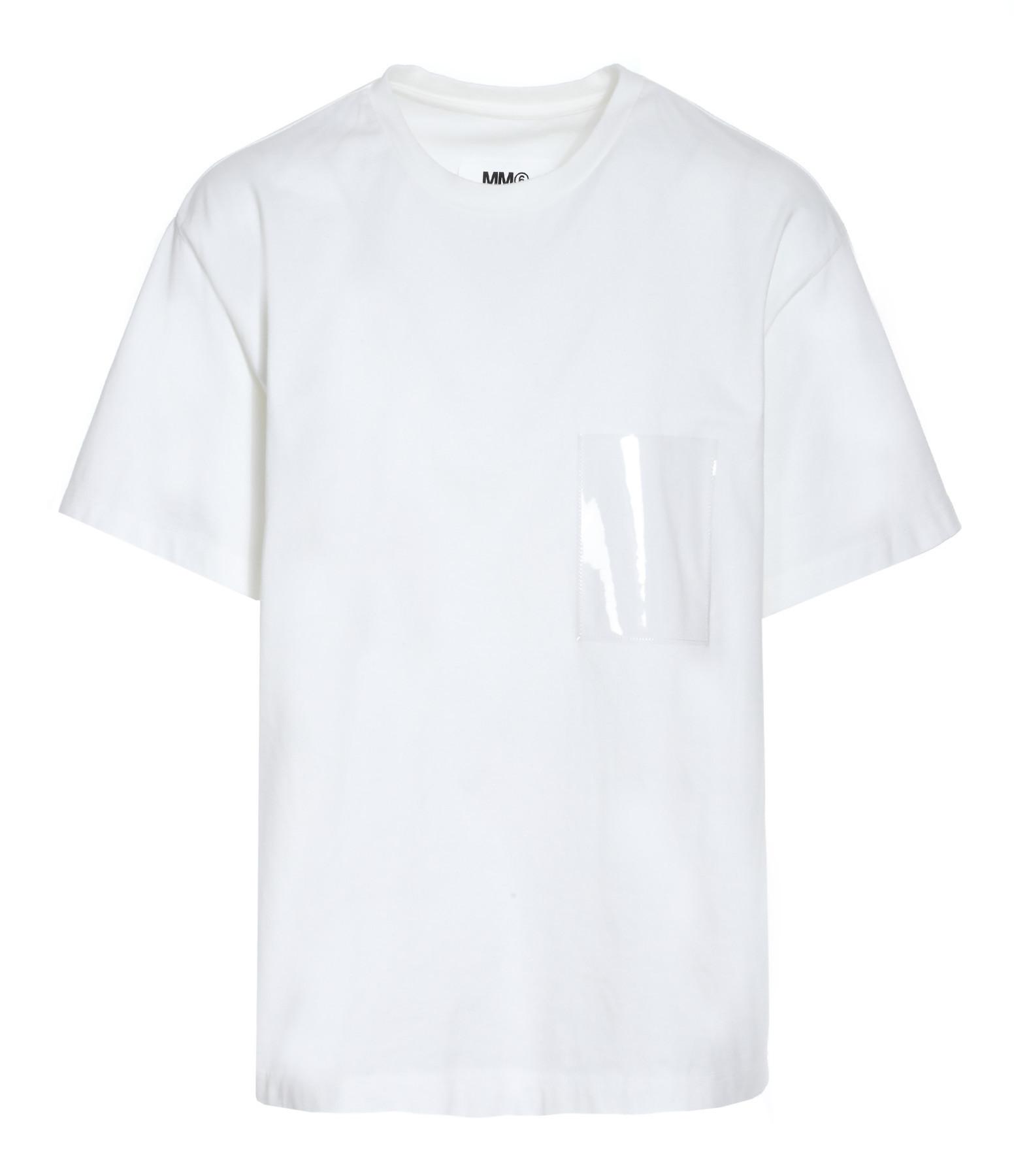 Tee-shirt Poche Blanc