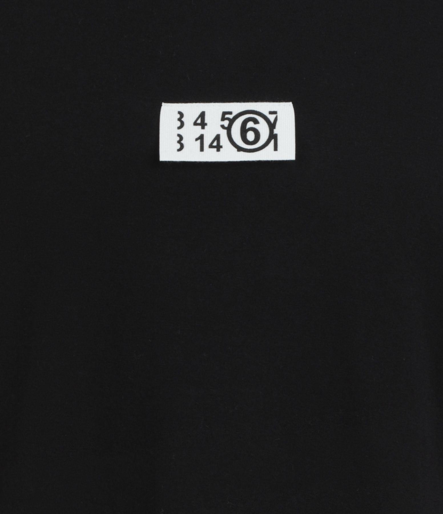 MM6 MAISON MARGIELA - Tee-shirt Coton Noir, Collection Studio