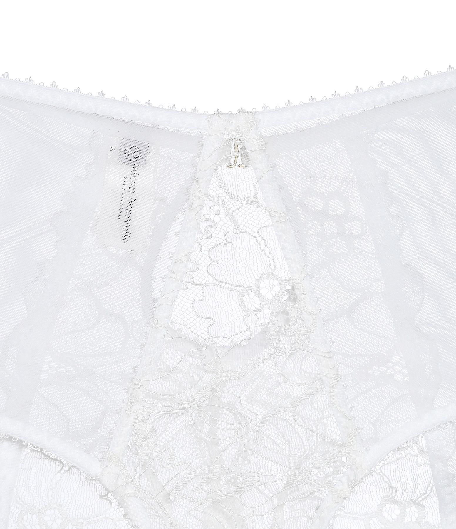MAISON NOUVELLE - Culotte Taille Haute Dentelle Blanc