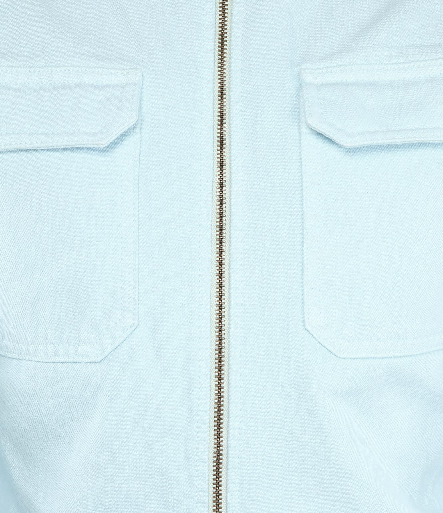 MODETROTTER - Combinaison Brunet Coton Bleu Ciel