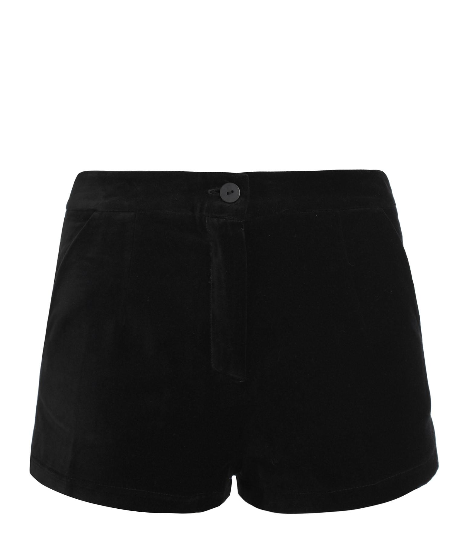 MODETROTTER - Short Elio Coton Pitten Noir