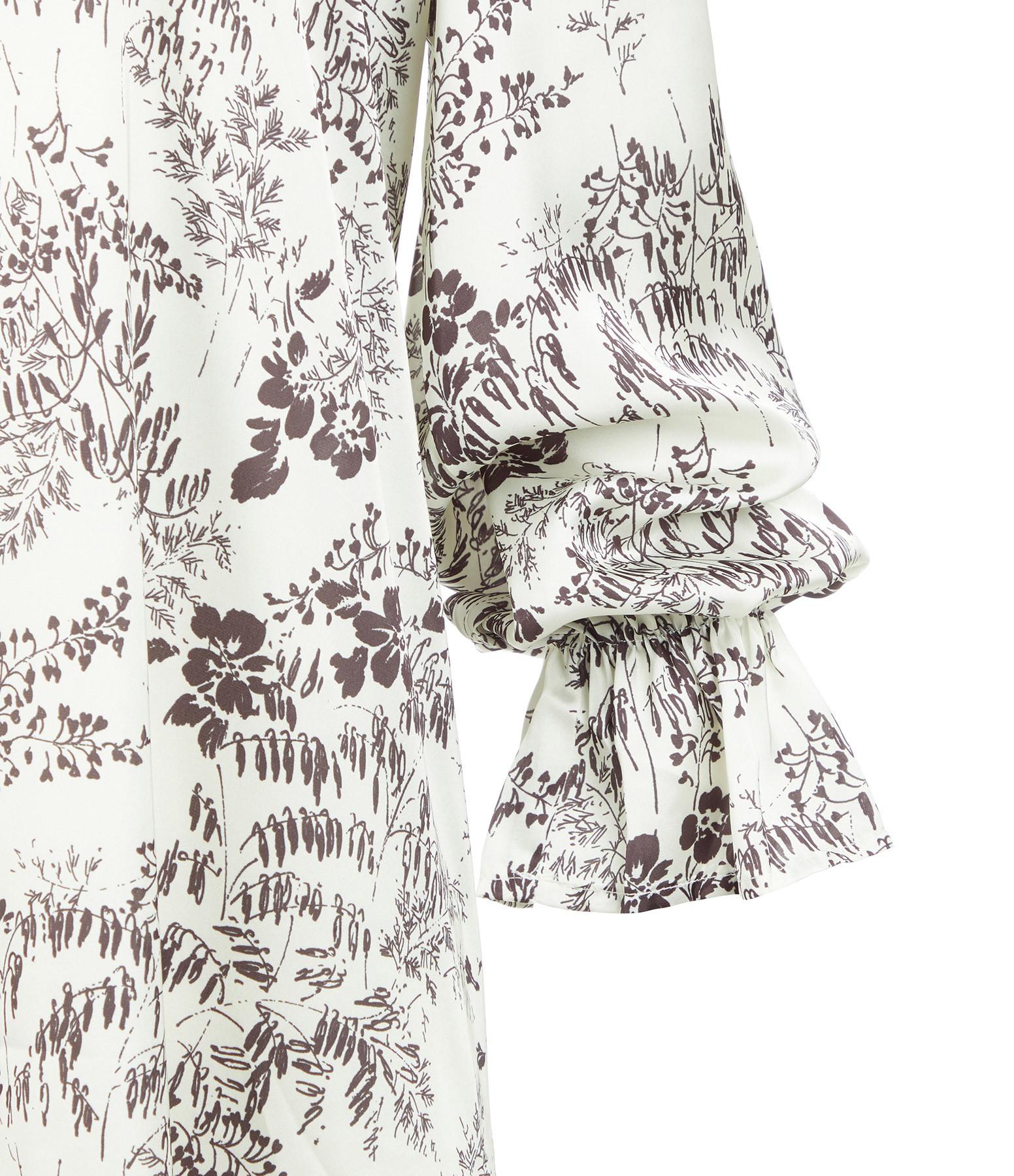 MODETROTTER - Robe Fernanda Imprimé Elor Blanc