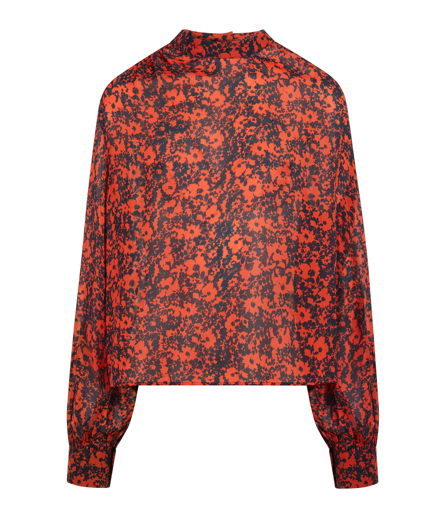 MODETROTTER - Blouse Liliane Imprimé Kelso Orange
