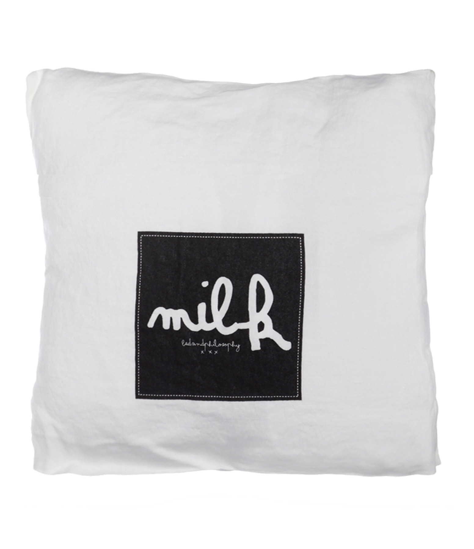 BED AND PHILOSOPHY - Coussin Molly Lin Milk Print Noir