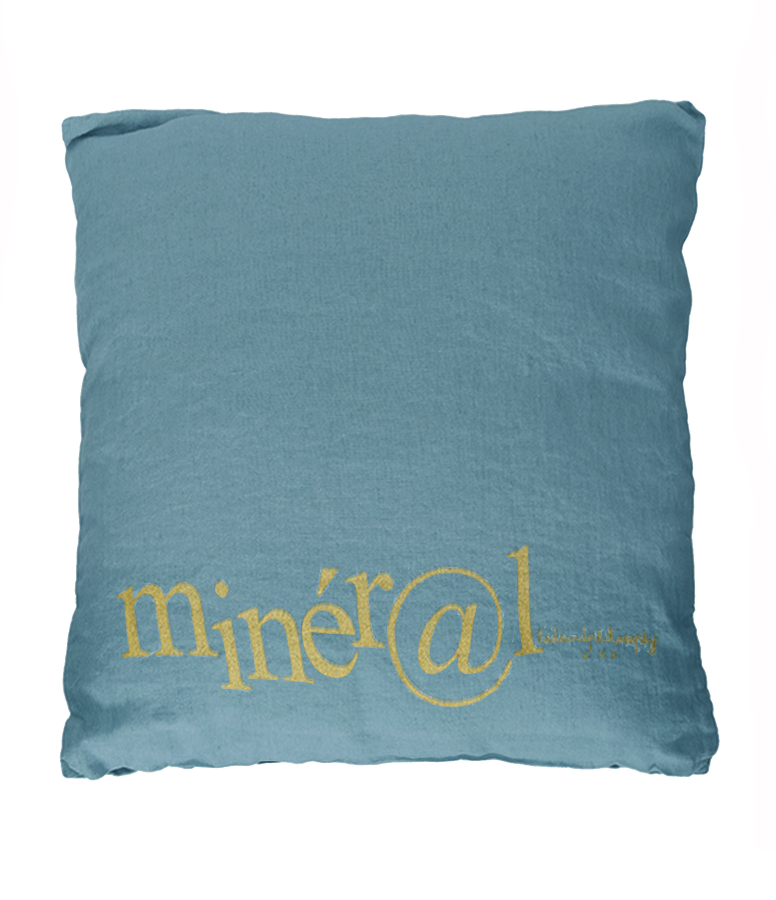 BED AND PHILOSOPHY - Coussin Molly Lin Mineral Print Doré