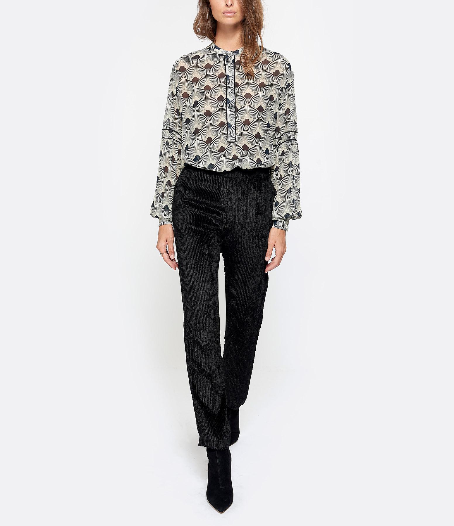 MOMONI - Pantalon Leone Noir