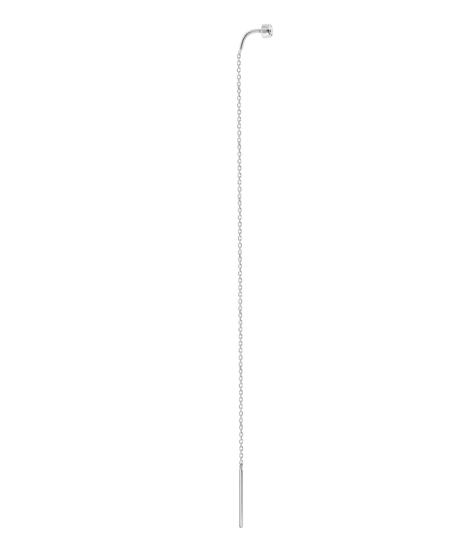 VANRYCKE - Boucle d'oreille Pendante One Or Blanc Diamant (vendue à l'unité)