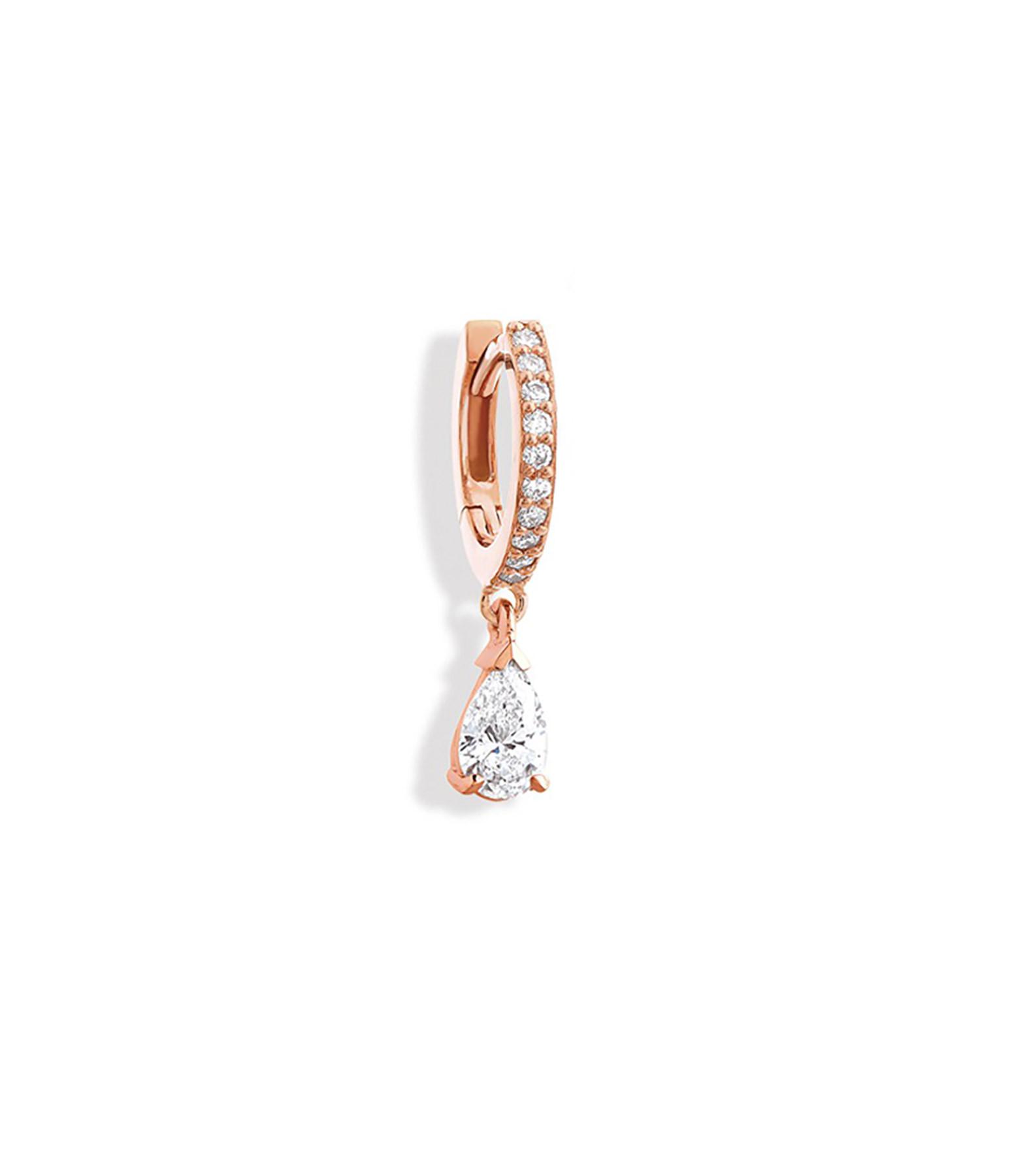 NAVA JOAILLERIE - Boucle d'oreille Isa Or Rose (vendue à l'unité)