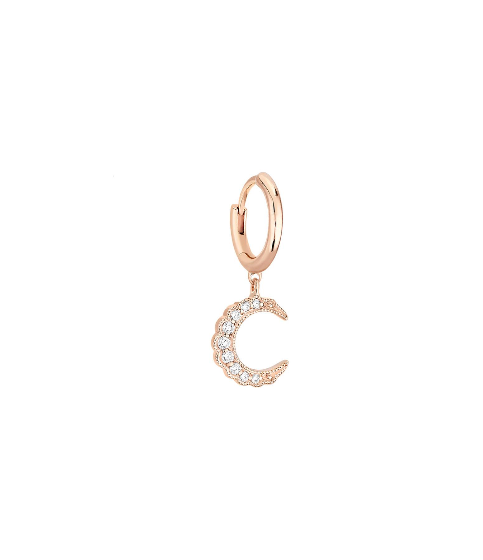 STONE PARIS - Mini Créole Moonlight Or Diamants (vendue à l'unité)