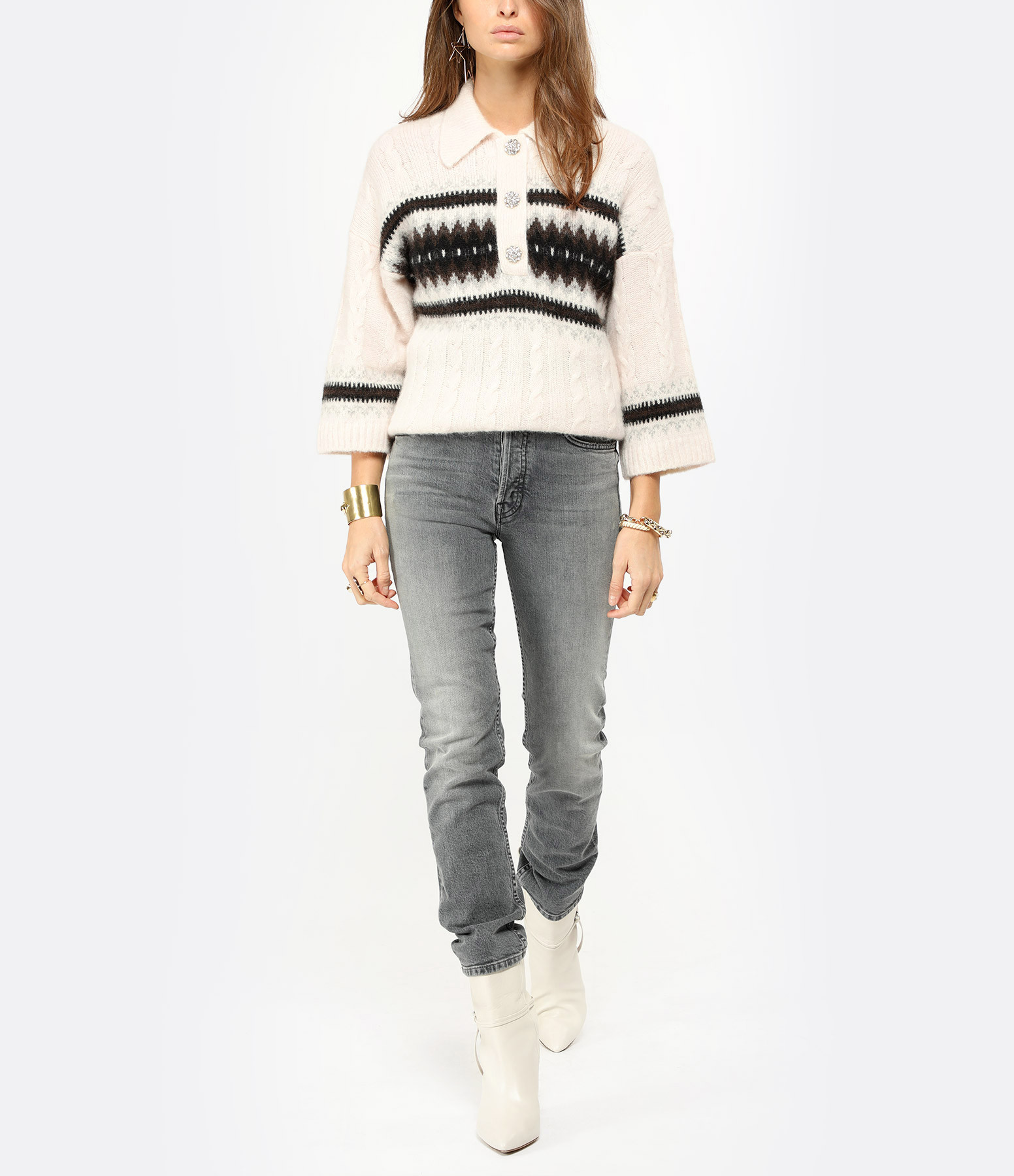 MOTHER - Jean The Tomcat Ankle Coton Denim