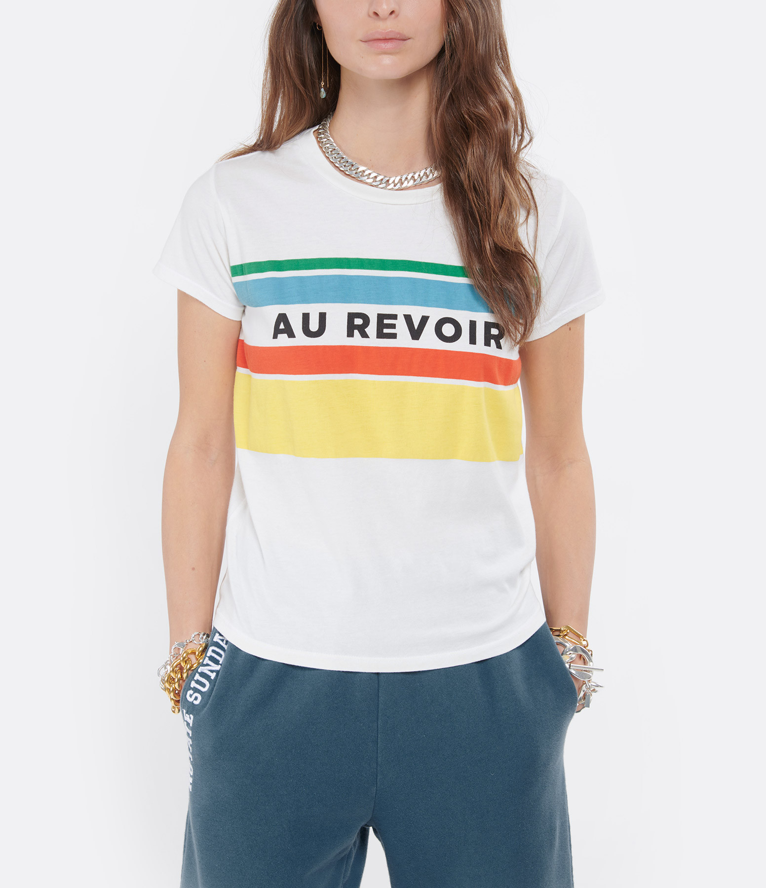 MOTHER - Tee-shirt The Boxy Goodie Goodie Coton Au Revoir