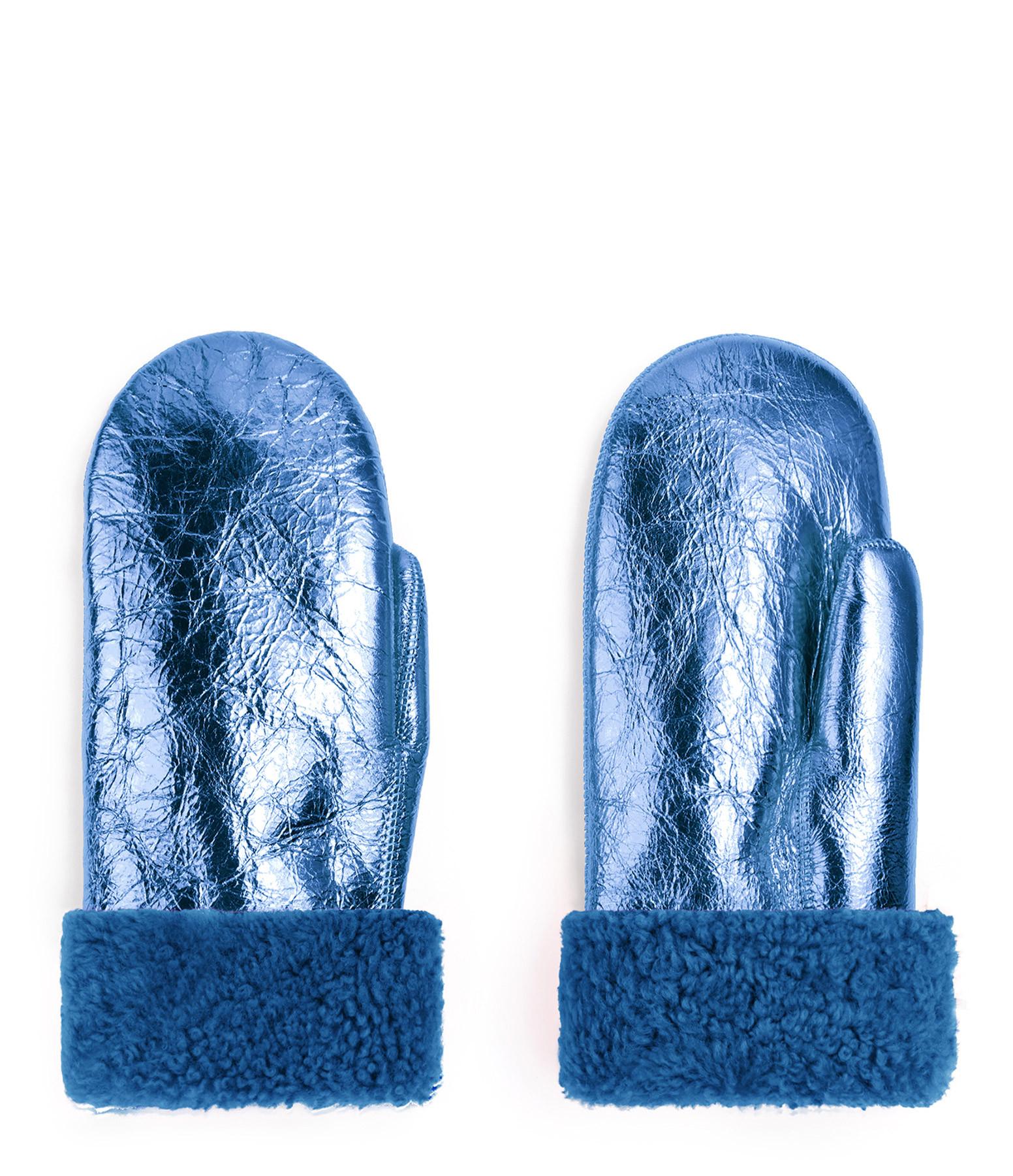 TOASTIES - Moufles Bleu Métallique