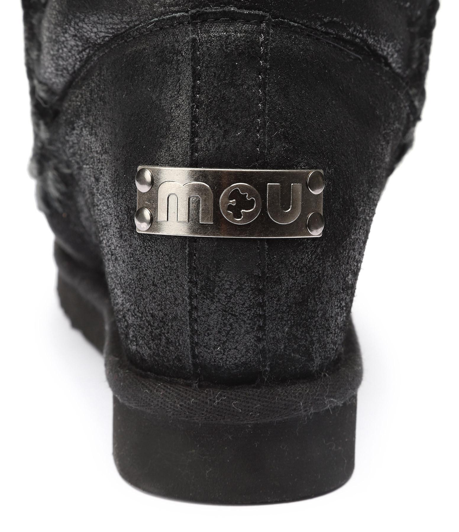 MOU - Bottines Compensées Eskimo Inner Wedge Noir