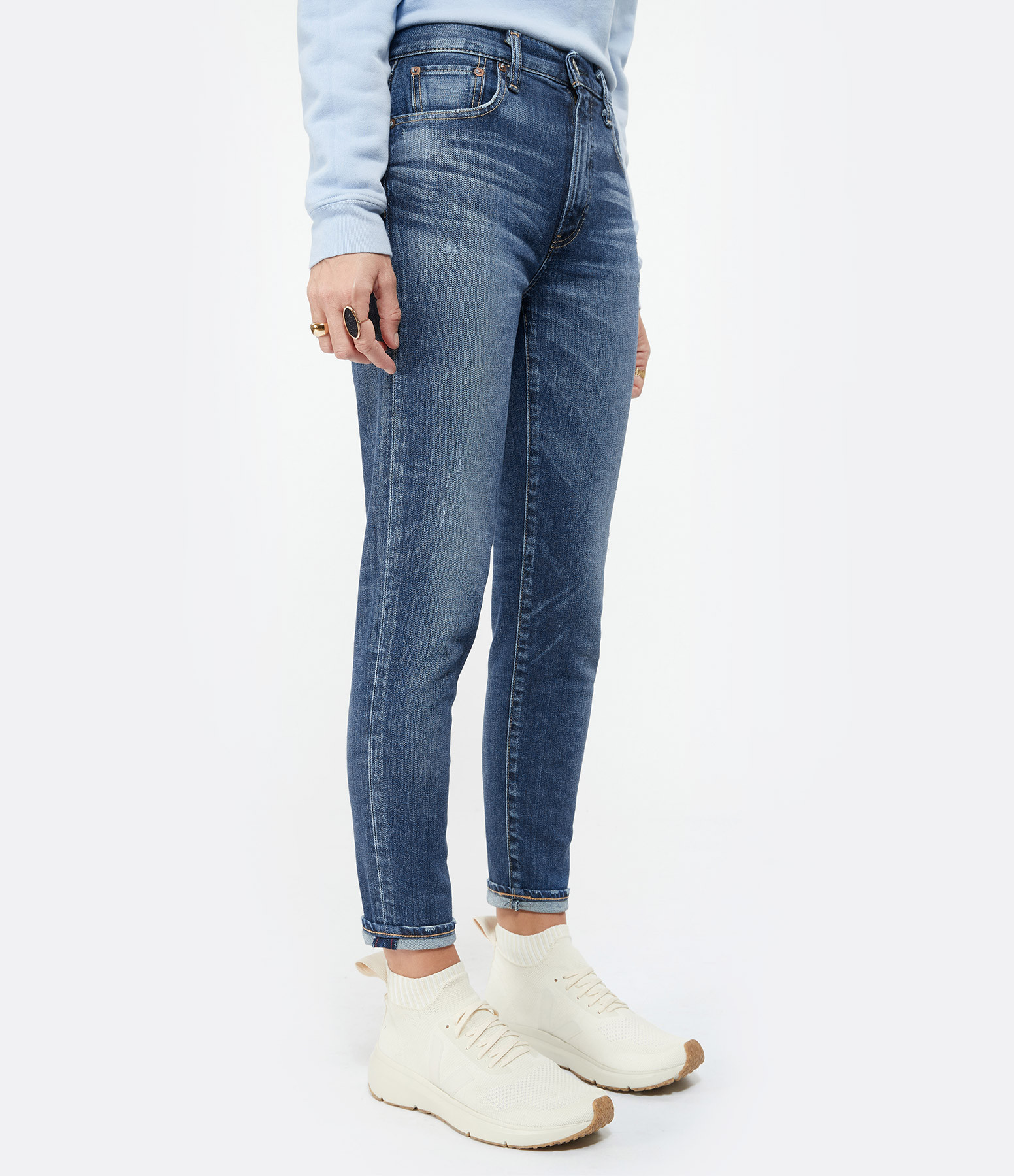 MOUSSY VINTAGE - Jean Tamworth Skinny Coton Denim Bleu