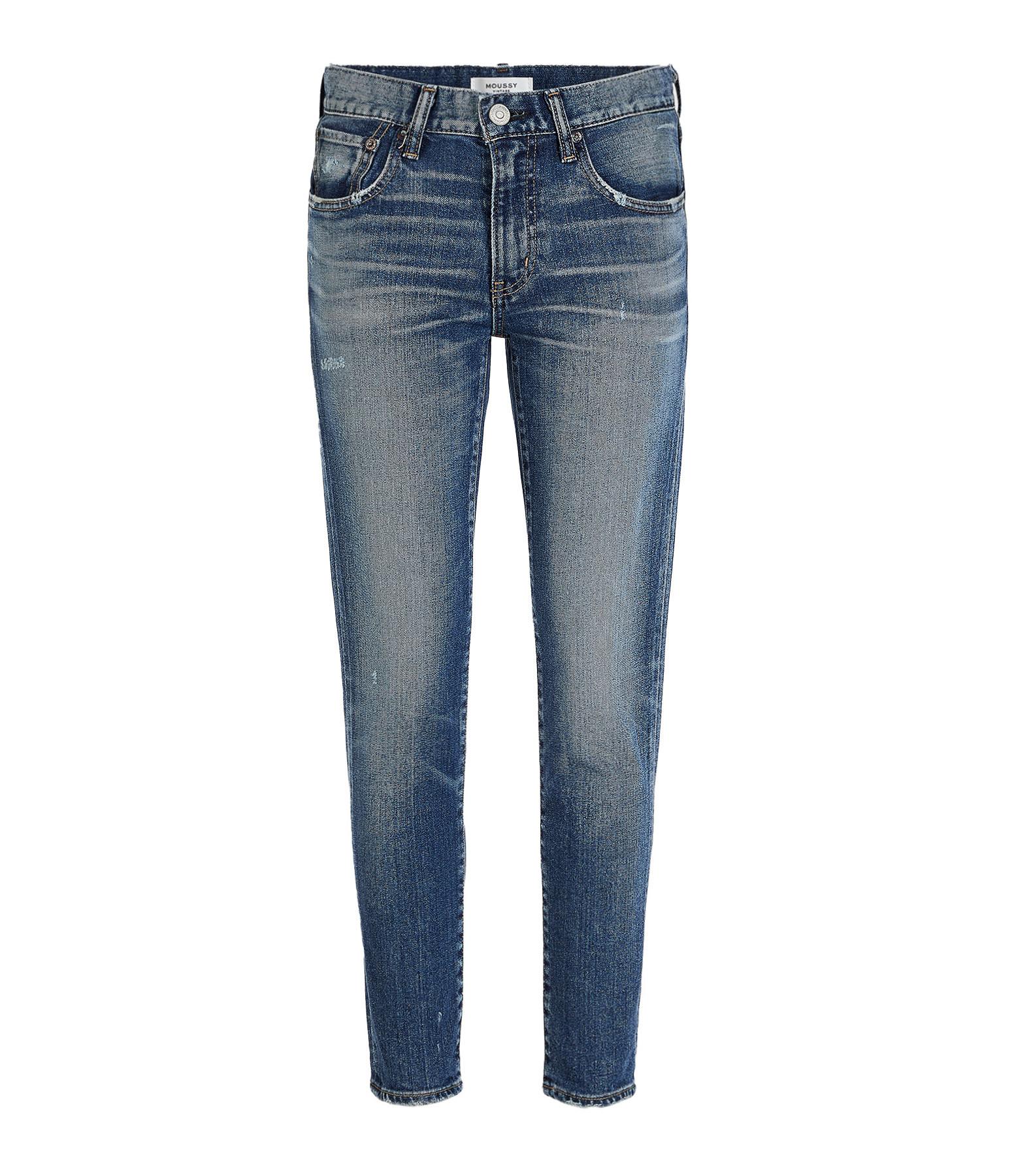 MOUSSY VINTAGE - Jean Sundance Skinny Coton Denim Bleu