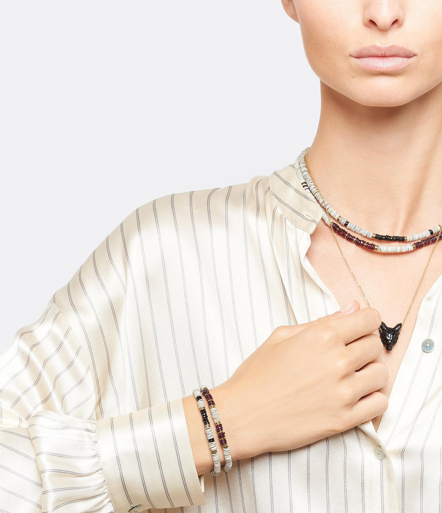 MON PRECIEUX GEM - Bracelet Puka S Coquillage Onyx