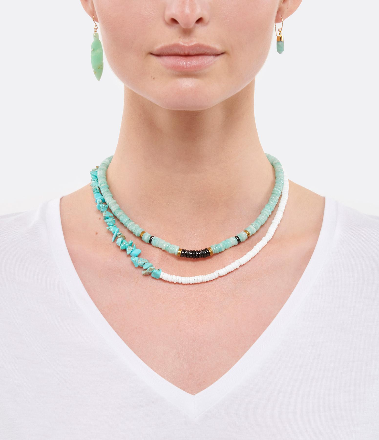 MON PRECIEUX GEM - Collier Bigoût Coquillage Turquoise
