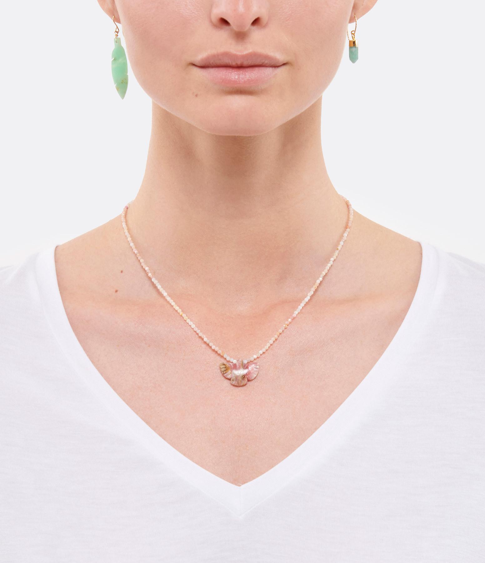 MON PRECIEUX GEM - Collier Condor Perles Opale Rose