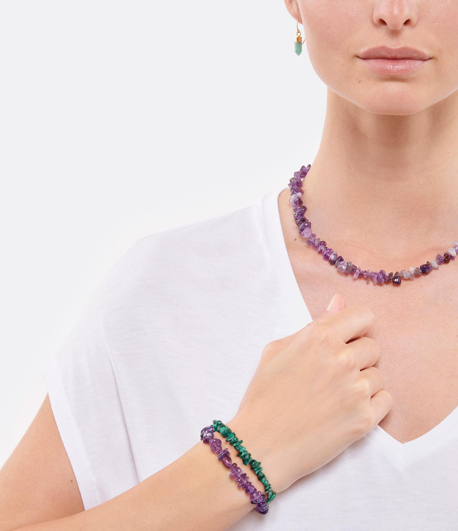 MON PRECIEUX GEM - Bracelet Facettes Malachite
