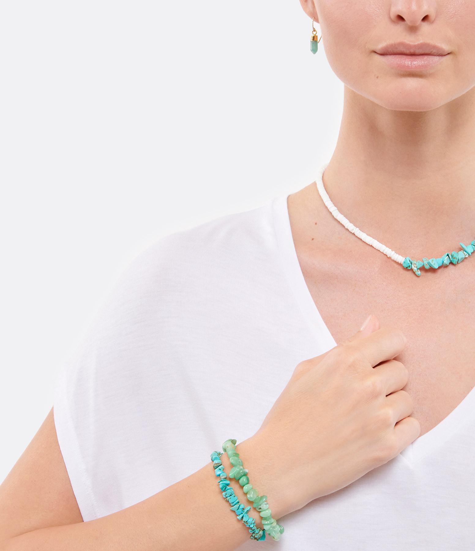 MON PRECIEUX GEM - Bracelet Facettes Chryoprase