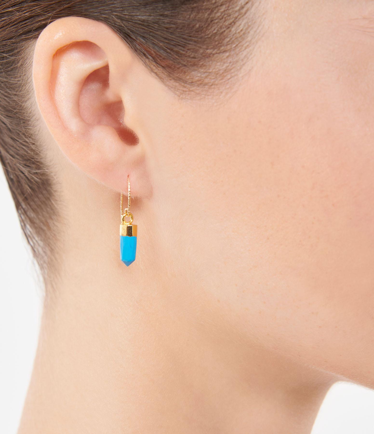 MON PRECIEUX GEM - Boucle d'oreille Rocher Roucas Turquoise (vendue à l'unité)