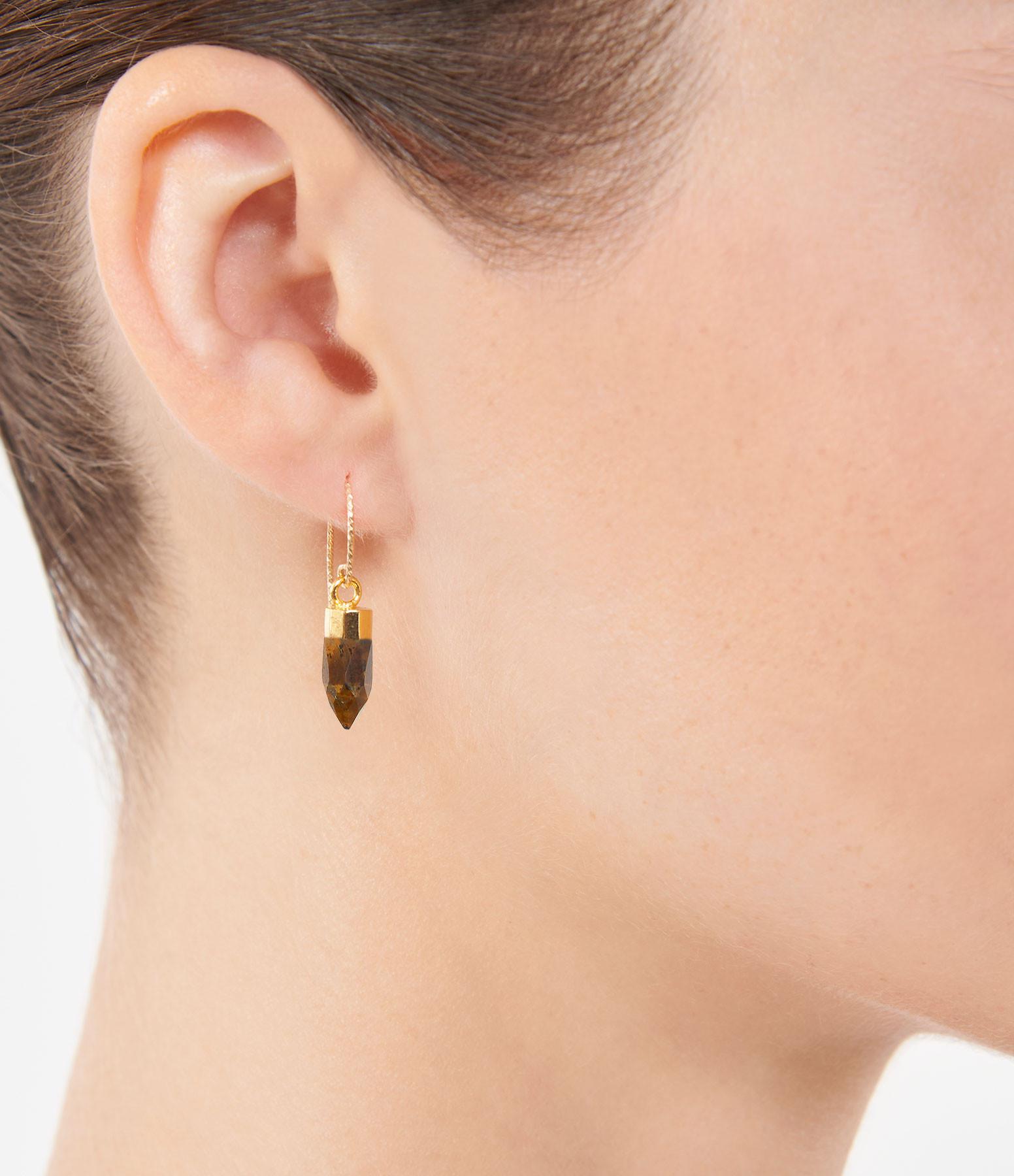 MON PRECIEUX GEM - Boucle d'oreille Rocher Roucas Oeil de Tigre (unit