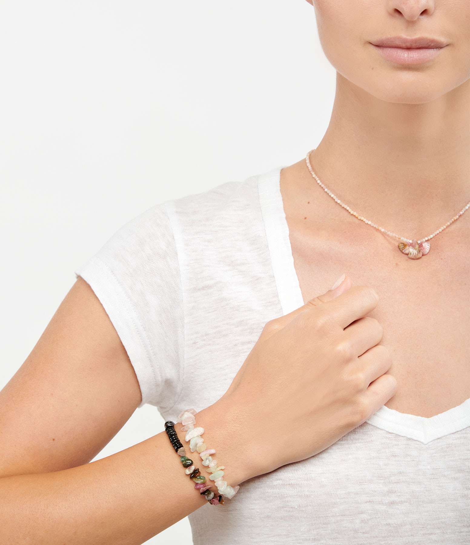 MON PRECIEUX GEM - Bracelet Bigoût Onyx Tourmaline