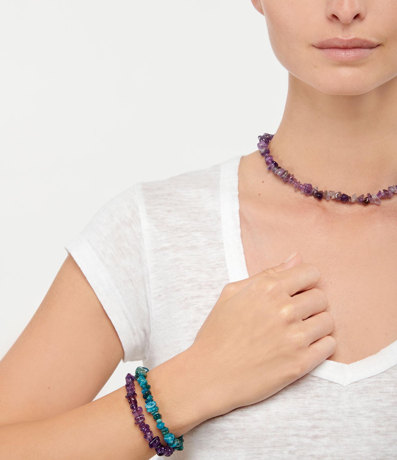 MON PRECIEUX GEM - Bracelet Facettes Apatite