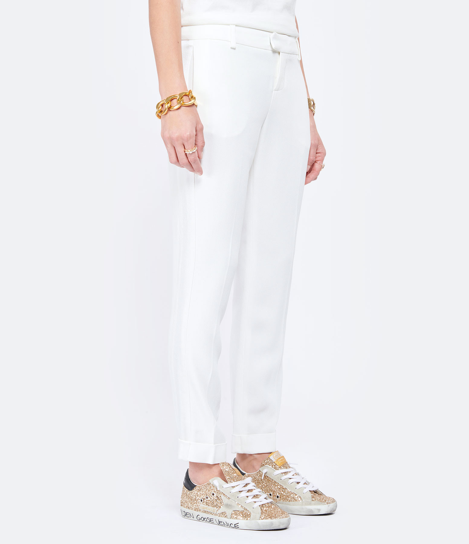 MAISON SARAH LAVOINE - Pantalon Smoking Claude Blanc