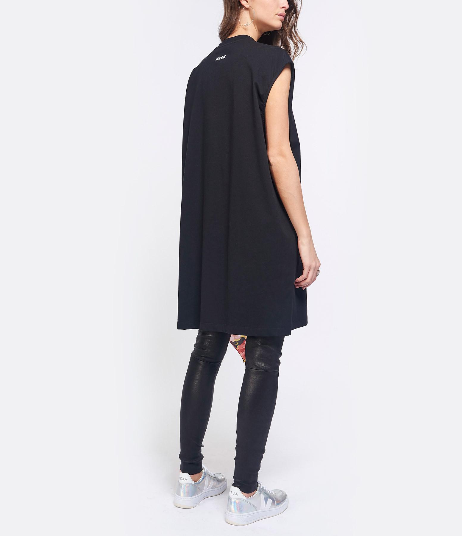 MSGM - Robe Tee-shirt Coton Noir