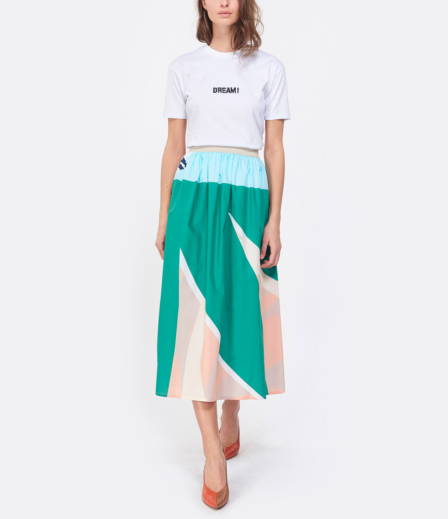 MSGM - Tee-shirt Coton Blanc