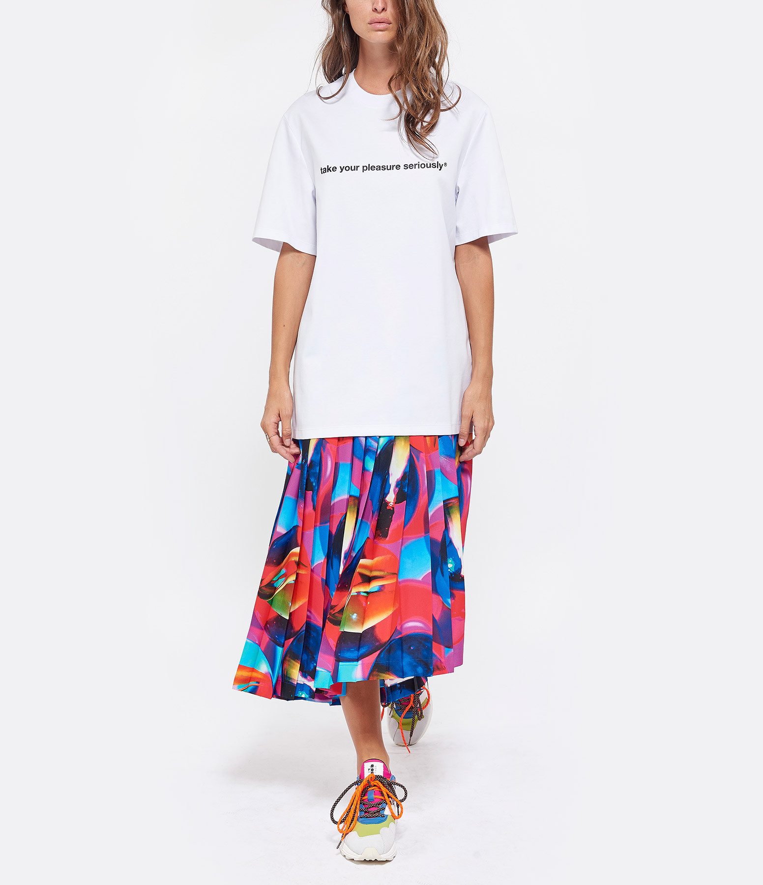MSGM - Tee-shirt Sérigraphie Blanc