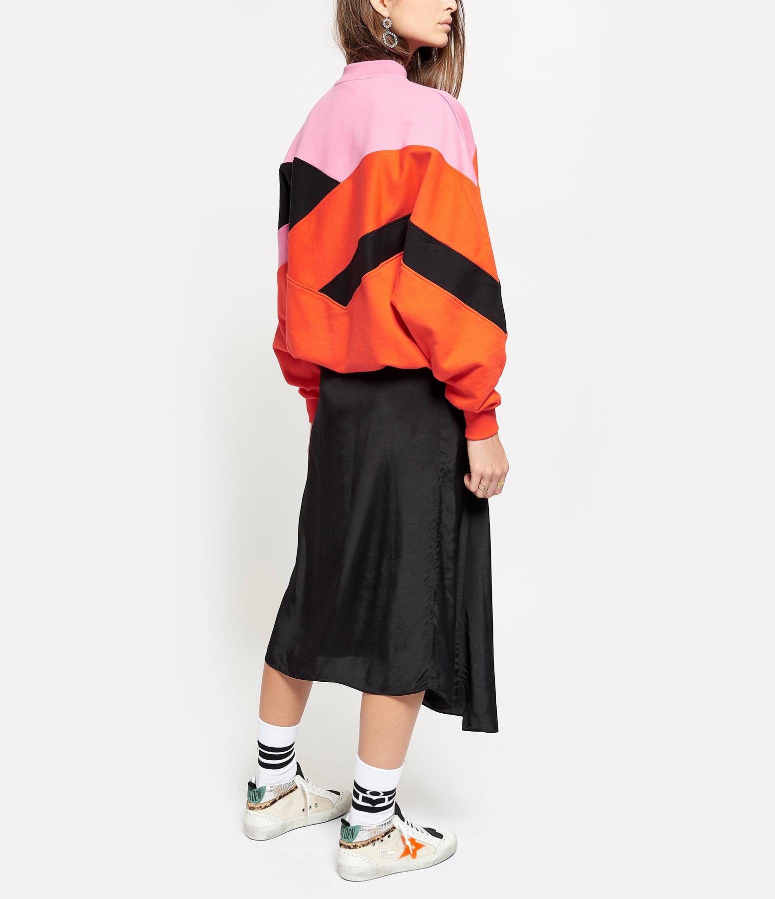 MSGM - Sweatshirt Coton Rose Rouge