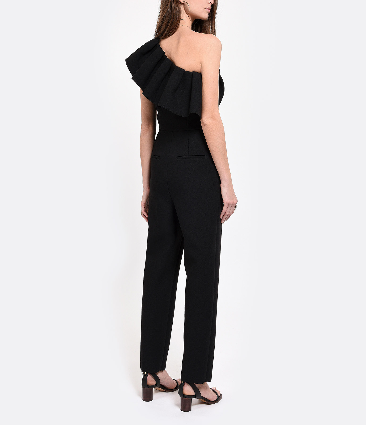 MSGM - Combinaison Pantalon Volant Noir