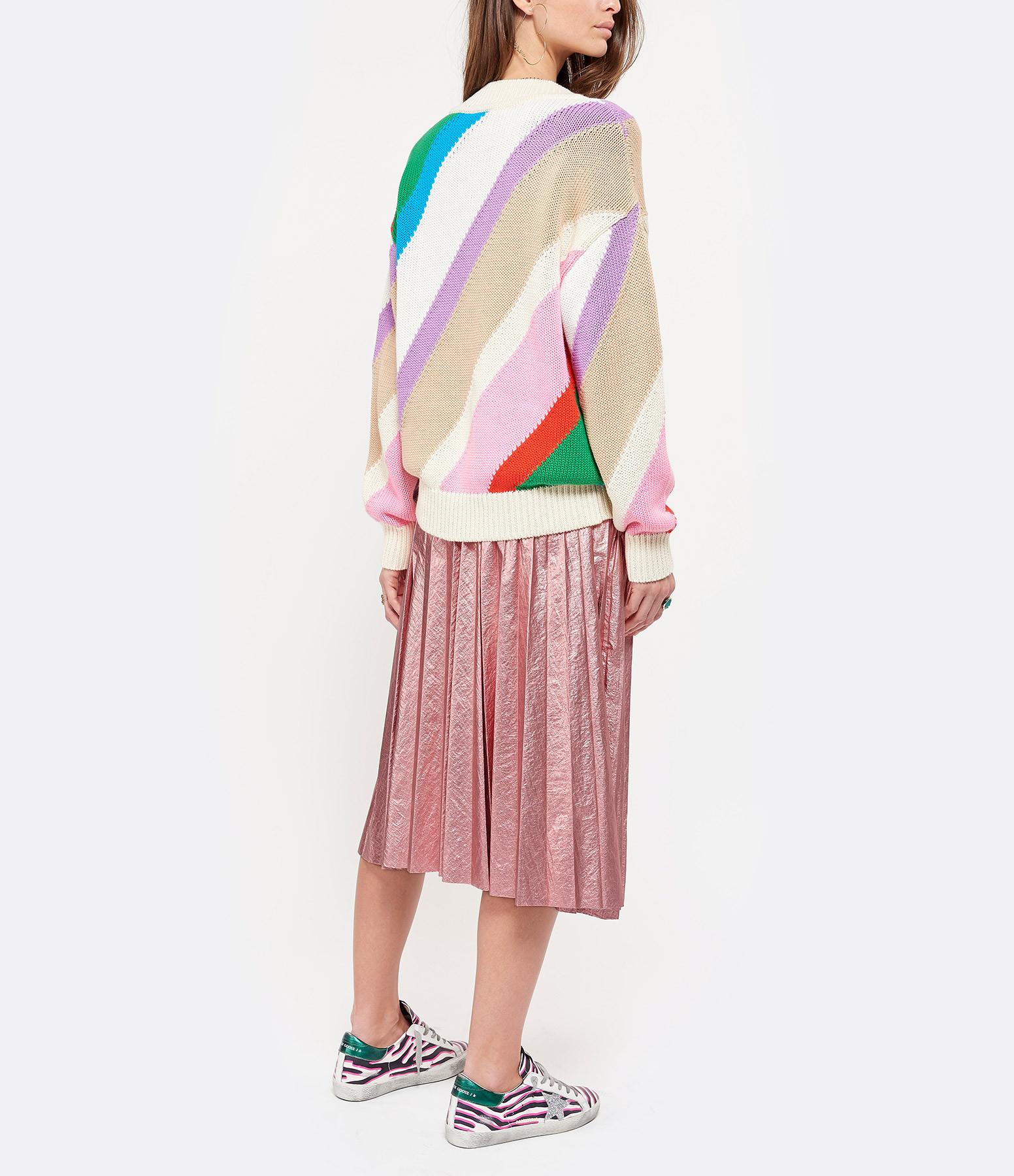 MSGM - Pull Coton Rayures Multicolore