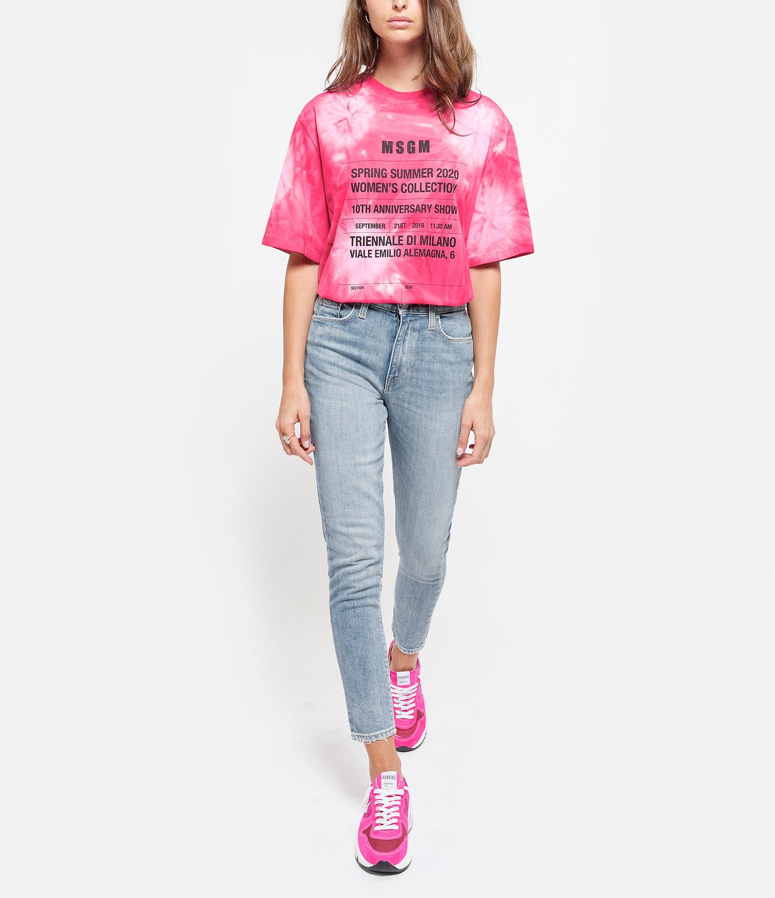 MSGM - Tee-shirt Coton Rose