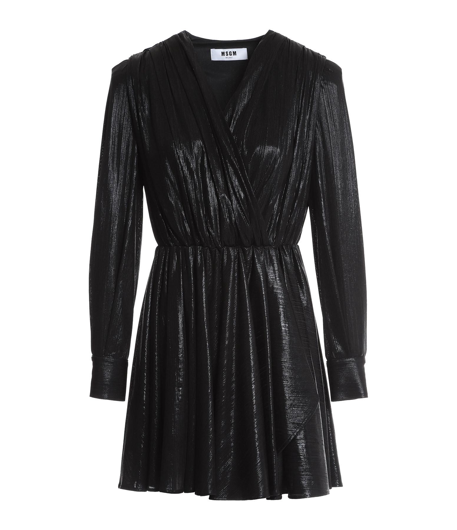 MSGM - Robe Plissé Noir