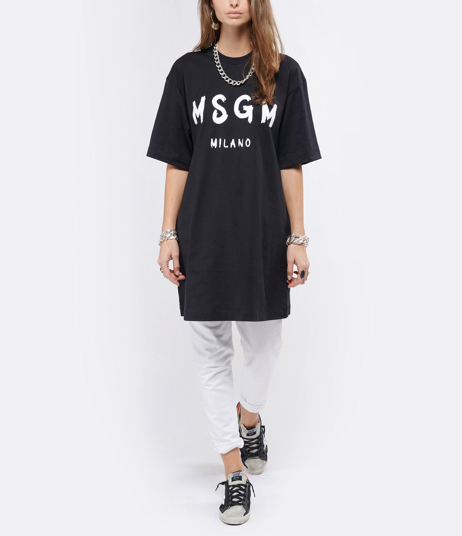 MSGM - Robe Tee-shirt MSGM Noir