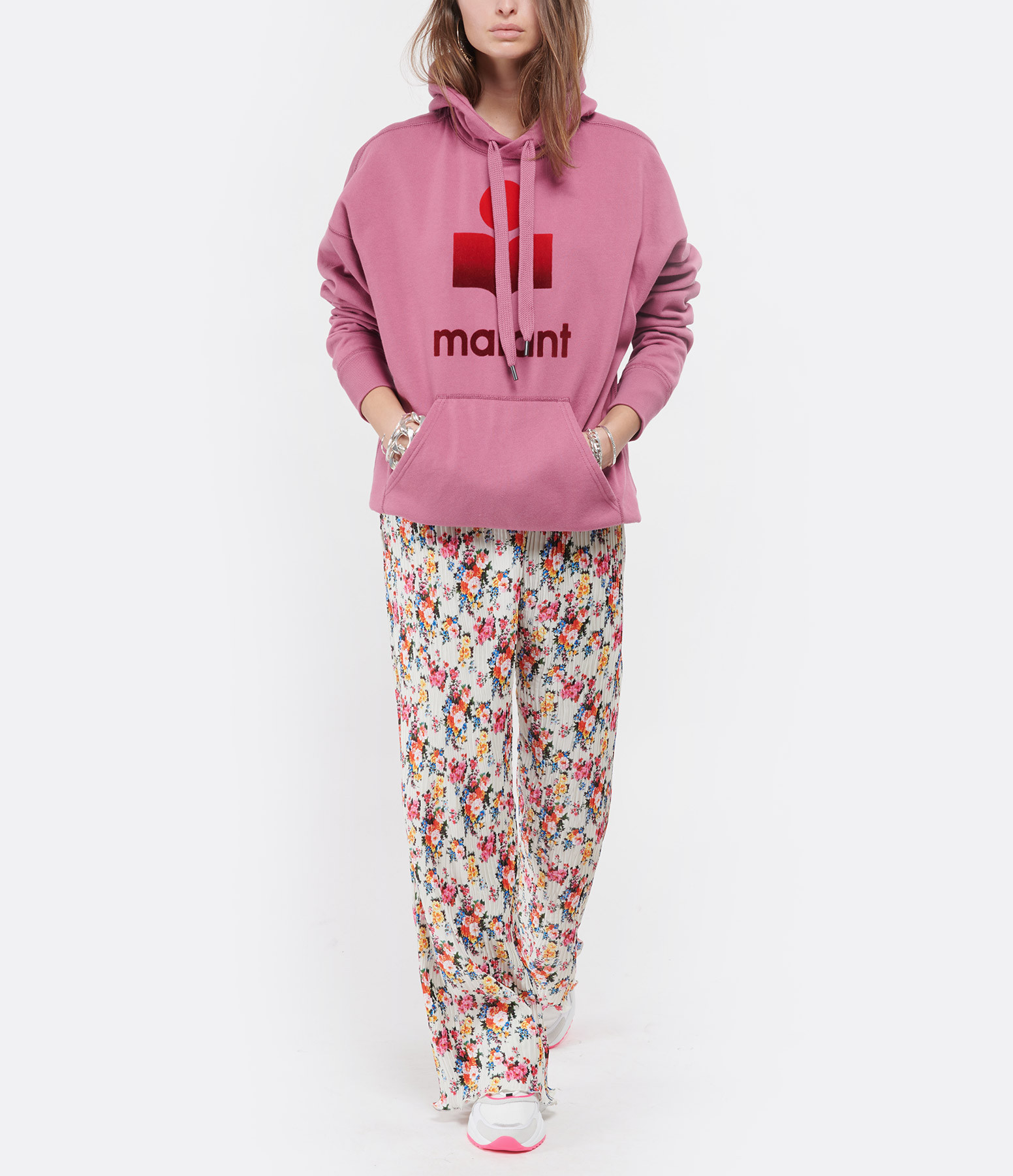 MSGM - Pantalon Imprimé Blanc