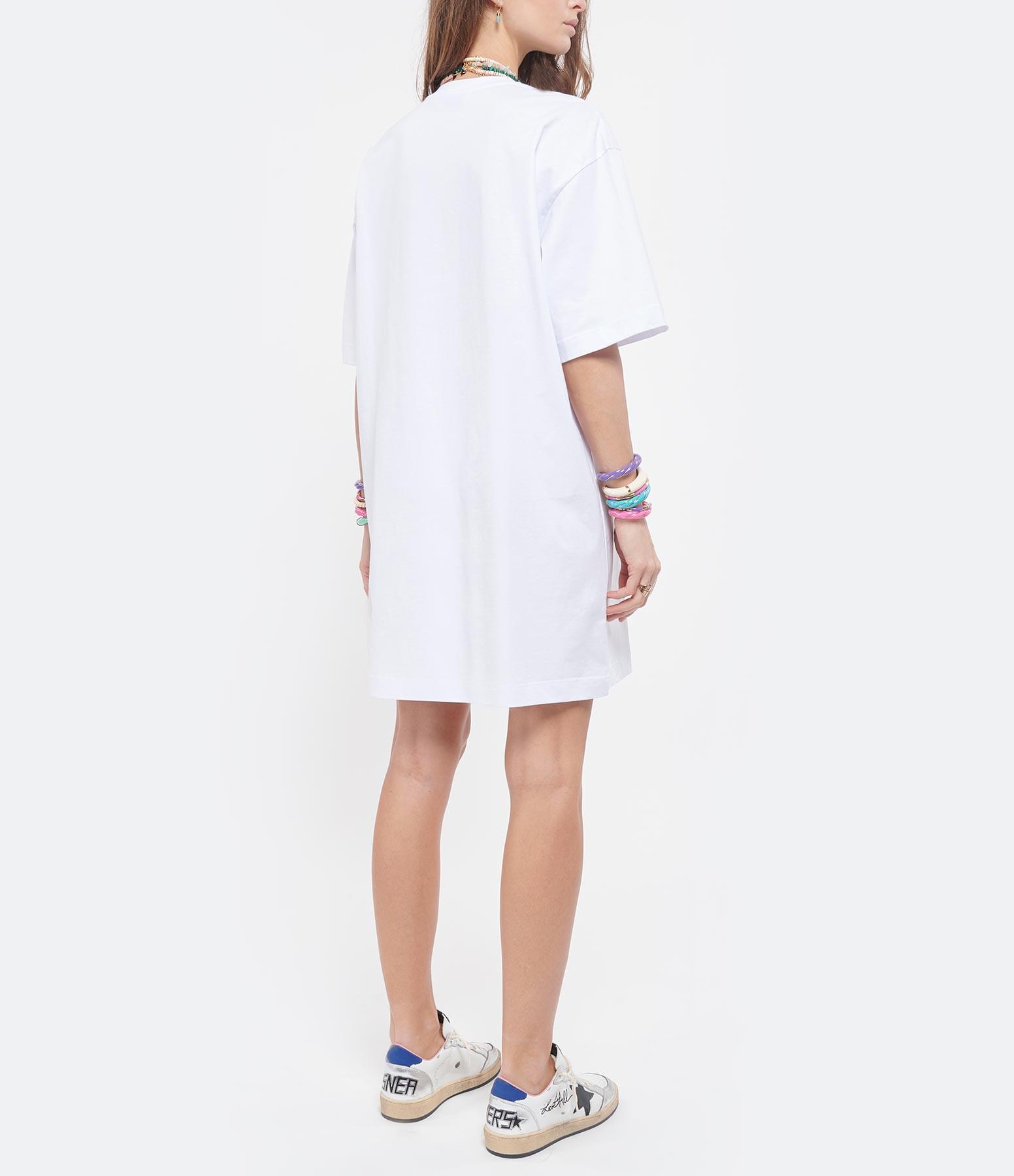 MSGM - Robe Tee-shirt MSGM Blanc
