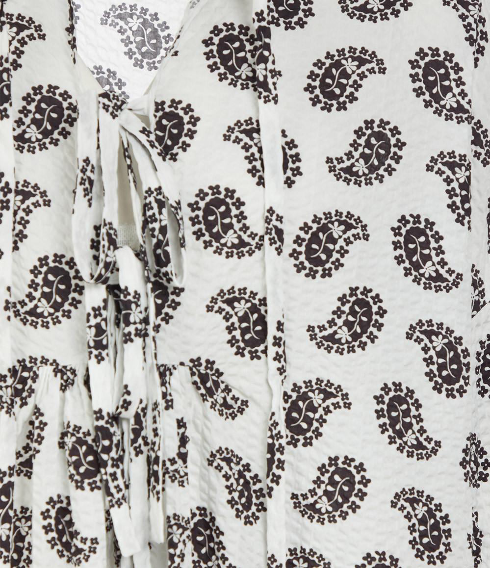 MSGM - Robe Imprimé Blanc